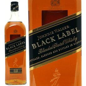 ジョニー ウォーカー ブラックラベル 12年 1000ml 正規品 スコッチウイスキー ^YCJWBLK0^