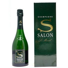 [2002] サロン ブラン ド ブラン ブリュット ギフト箱付 正規品 750ml(シャンパン フランス シャンパーニュ)白泡 コク辛口 ワイン ^VASO01A2^