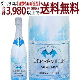 ドゥプレヴィル アイス ドゥミ セック ブラン メトード トラディッショナル ブルー ラベル 750mlスパークリング 白泡 やや甘口 ^VBACIBZ0^