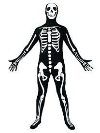VeroMan メンズ 全身タイツ ガイコツ 骸骨 スケルトン コスプレ ハロウィン パーティー イベント 衣装 仮装