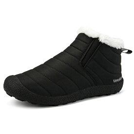 VeroMan スノーシューズ レインシューズ メンズ レディース アウトドア ウィンター ブーツ 雪靴 転倒防止 防寒 防水 ブラック