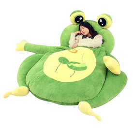 VeroMan 子供用 寝袋付き 敷布団 ソファー ベッド ぬいぐるみ カエル サル ネコ 170×100cm