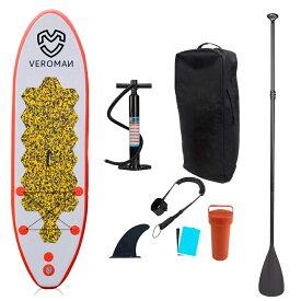 VeroMan インフレータブル SUP ボード スタンドアップパドルボード 空気入れ パドル 収納バッグ付き フルセット
