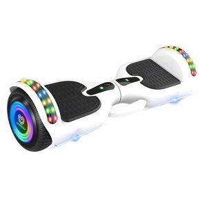 VeroMan 電動バランススクーター 電動スクーター ホバーボード バランスボード 立ち乗り二輪車 LEDライト 子供用 大人用 耐荷重120kg