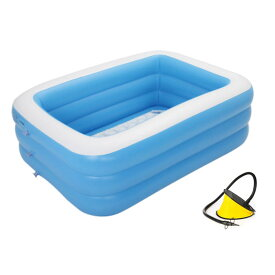 [150cm] VeroMan 家庭用 大型プール インフレータブル ビニールプール 水遊び 室内 室外 庭 屋上 暑さ対策 (S)