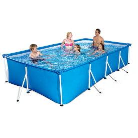 400cm VeroMan フレームプール 大型 ファミリープール ビニールプール 折りたたみ 庭 水遊び XLサイズ