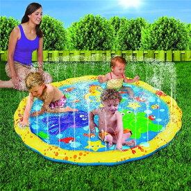 VEROMAN 幼児用 プール 直径100cm 噴水 ホースに繋ぐだけ 水遊び 庭 シャワー 子供用