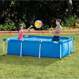 220cm VeroMan フレームプール 大型 ファミリープール 折りたたみ ビニールプール 庭 水遊び Sサイズ