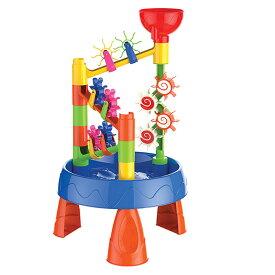VeroMan 水遊び テーブル 水遊び台 ウォーターテーブル 脚付き お風呂おもちゃ シャワーおもちゃ 夏 水車 砂遊び 水遊び台