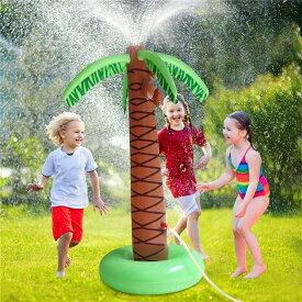 VeroMan スプラッシュ インフレータブル 噴水 水遊び プール 庭 シャワー ツリー