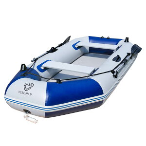 [3人乗り] VeroMan インフレータブル ボート ゴムボート オール付き 収納バッグ付き プレジャー フィッシング 大型