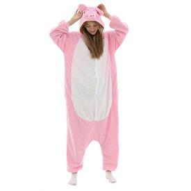 VeroMan 大人用 動物 着ぐるみ ブタ パジャマ ホームウェア 寝間着 コスチューム