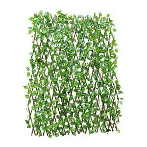 [70cm] VeroMan 伸縮グリーンフェンス リーフラティス ベランダ 柵 目隠し 緑のカーテン 日よけ サンシェード