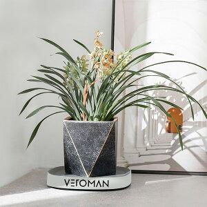 [40cm] VeroMan フラワースタンド キャスター付き 可動式プランター台 ポットスタンド プランタースタンド 植木鉢トレー 植木鉢台 花台 360°回転 観葉植物