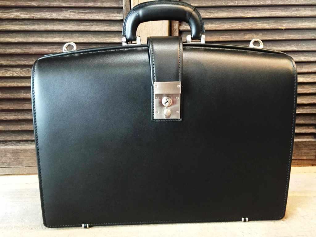 【青木鞄LUGGAGE AOKI1894(ラゲッジアオキ1894)Genuius/ジーニアス】ヘビーレタン仕上げ牛ヌメ革・口枠式レザーブリーフケース/ダレスバッグ(2558)メンズ 鞄 高級 ビジネス 本革