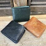 【MuddyJackSoup(マディージャックスープ)】オイルシボ牛革・切りっぱなしナチュラルレザー二つ折り財布(76150)メンズ/レディース