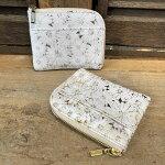【国産・フーシフェルナーレ(FU-SIFERNALLE)】『SANTERO/サンテロ』花柄フラワープレス加工イタリア製牛革・エル字型ファスナーHALFサイズウォレット財布(01131)レディース