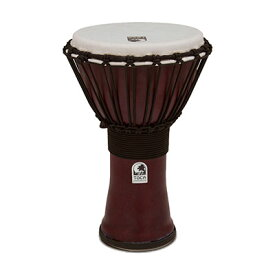 """Freestyle II Djembe 9"""" - Red - Synthetic HeadTF2DJ-9RFREESTYLE ROPE TUNED DJEMBES"""