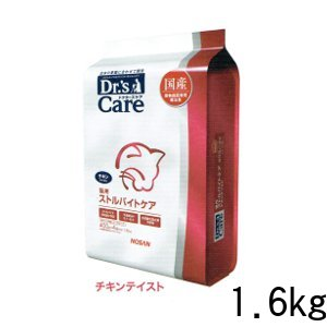 ドクターズケア ストルバイトケア チキンテイスト ドライ 猫用 1.6kg (400g×4) ストルバイト 尿石症 下部尿路 疾患 猫 ペット 療法食