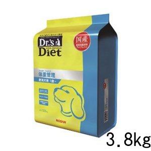 ドクターズダイエット 体重管理 ドライ 犬用 3.8kg 国産 成犬 プレミアムフード ドッグフード 総合栄養食 ペット