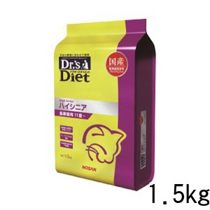 ドクターズダイエット ハイシニア ドライ 猫用 1.5kg 国産 高齢猫 プレミアムフード キャットフード 総合栄養食 ペット