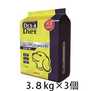 ドクターズダイエット メインテナンス (pHエイド) ドライ 犬用 3.8kg ×3個 国産 成犬 プレミアムフード ドッグフード 総合栄養食 ペット