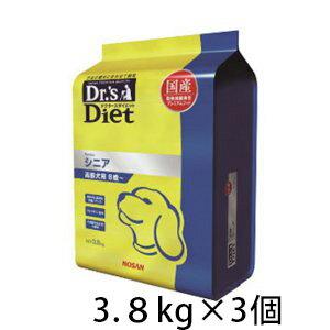 ドクターズダイエット シニア ドライ 犬用 3.8kg ×3個 国産 高齢犬 プレミアムフード ドッグフード 総合栄養食 ペット