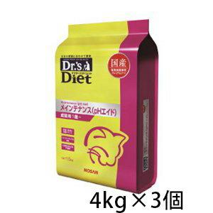 ドクターズダイエット メインテナンス (pHエイド) ドライ 猫用 4kg ×3個 国産 成猫 プレミアムフード キャットフード 総合栄養食 ペット
