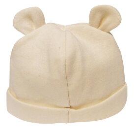オーガニックコットン -HAYASHI-『くまさん帽子』【ポスト投函OK ※代引・日時指定不可】《日本製/赤ちゃん/乳児/敏感肌》