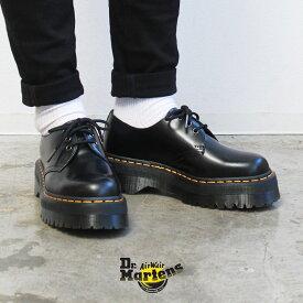 ドクターマーチン レースアップシューズ メンズ レディース DR.MARTENS 1461 クアッド 靴 シューズ ブーツ カジュアル ローカット 人気 定番 おしゃれ レースアップ 3ホール 厚底 ブラック 黒 25567001 1461 QUAD