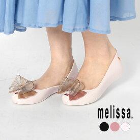 【限定クーポン配布】【25%OFF】メリッサ パンプス MELISSA ULTRAGIRL SWEET 32716 レディース レイン バレエシューズ インヒール パンプス リボン 楽ちん 靴 黒 白 かわいい
