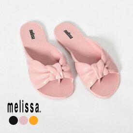【限定クーポン配布】MELISSA メリッサ サンダル MELISSA ROSE 32681 レディース 海 ビーチ ぺたんこ パンプス ミュール リボン 楽ちん 靴 黒 ピンク かわいい つっかけ ラバー