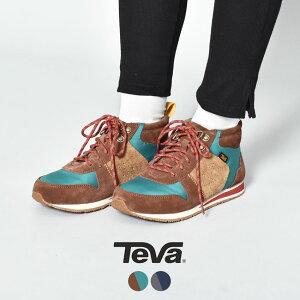 TEVA テバ スニーカー HIGHSIDE 84 MID 1103242 レディース 靴 シューズ カジュアルシューズ ミッドカット トレッキングブーツ マウンテンブーツ カジュアル アウトドア レジャー グレー タウンユー