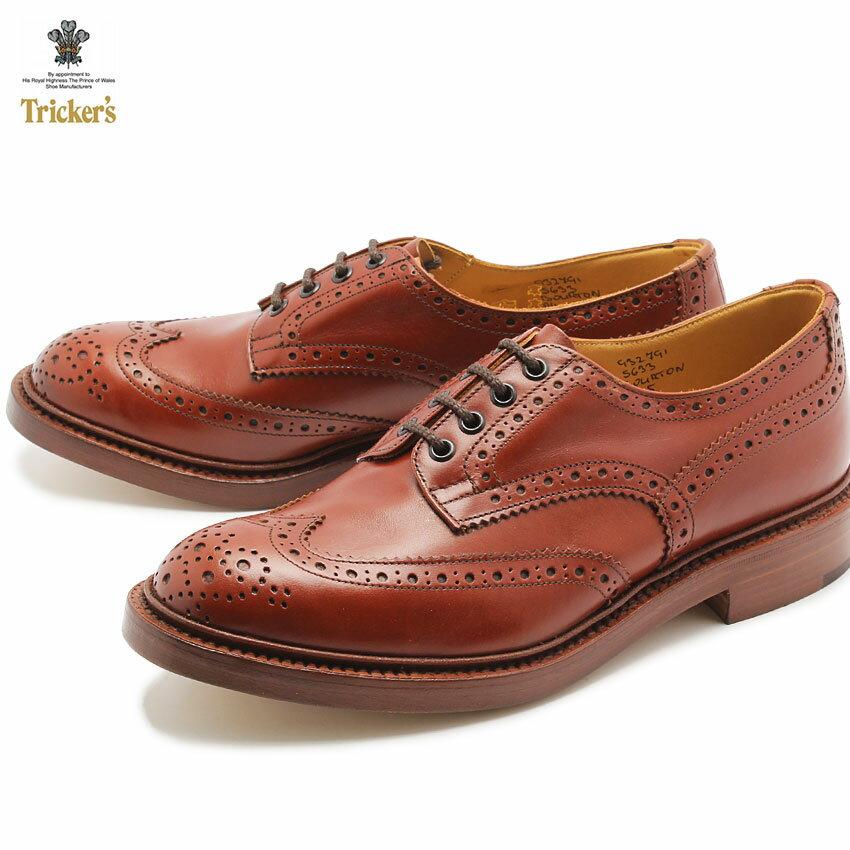 ★送料無料 トリッカーズ TRICKER'S TRICKERS バートン マロンアンティーク ダブルレザーソール(TRICKER'S 5633 COUNTRY BOURTON) カジュアルシューズ 革靴 メンズ MEN