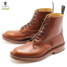 【限定クーポン配布!】トリッカーズ ブーツ TRICKERS カントリー バーフォード ワークブーツ メンズ 5635 1 COUNTRY BURFORD ダブルレザーソール マロンアンティーク ブラウン イギリス ブランド 革靴 おしゃれ