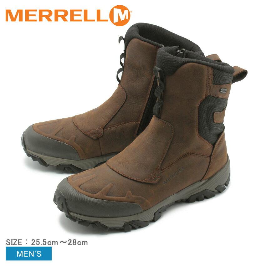 【MERRELL】 メレル スノーブーツ メンズ カッパーマウンテンコールドパック アイスプラス8 ジップ ポーラー ウォータープルーフCOLDPACK ICE+ 8 ZIP POLAR WP J92027防水 アウトドア 雨 雪 送料無料