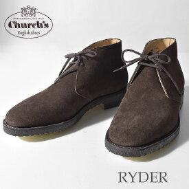 チャーチ ドレスシューズ CHURCHS ショートブーツ 紳士靴 ブラウン レザー 本革 革靴 ビジネスシューズ 通勤 ライダー RYDER 7943 90 メンズ