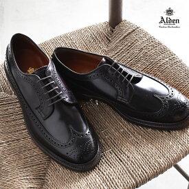 【ALDEN】 オールデン ロング ウィング ブルチャー 紳士靴 革靴 ビジネスシューズ バーガンディー LONG WING BLUCHER D5511 ウィングチップ アンティークエッジ トラディショナル レザー フォーマル コードバン 高級 ブランド