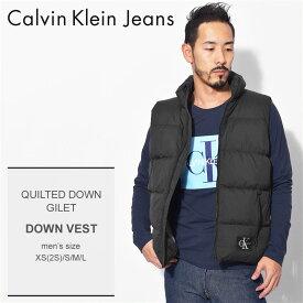 【限定クーポン配布!】CALVIN KLEIN JEANS カルバンクラインジーンズ ダウンベスト ブラックキルトダウン ジレ QUILTED DOWN GILETJ30J309476 099 メンズ