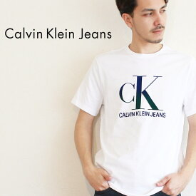 【限定クーポン配布!】【メール便可】カルバンクラインジーンズ Tシャツ CALVIN KLEIN JEANS 半袖 ホワイト リフレクション S/S ティー 41T0137 メンズ CK ブランド カジュアル シンプル ウェア トップス アパレル ロゴ プリント コットン 綿 定番 人気 白