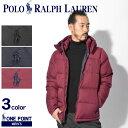 【POLO RALPH LAUREN】 ポロ ラルフローレン ダウンジャケット メンズ ワンポイント ダウン コート アウター 防寒 保温 ジップ 無地 シンプル ワンポイント おしゃれ 人気 ブラン