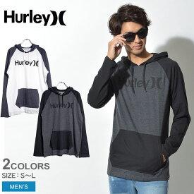 SALE開催中! HURLEY ハーレー ロングTシャツ ワン&オンリー ラグラン ジャージ フード 全2色 ONE&ONLY RAGLAN JERSEY HOOD MTS0025510 10A 03B ウェア トップス パーカー Tシャツ カジュアル 白 黒 メンズ