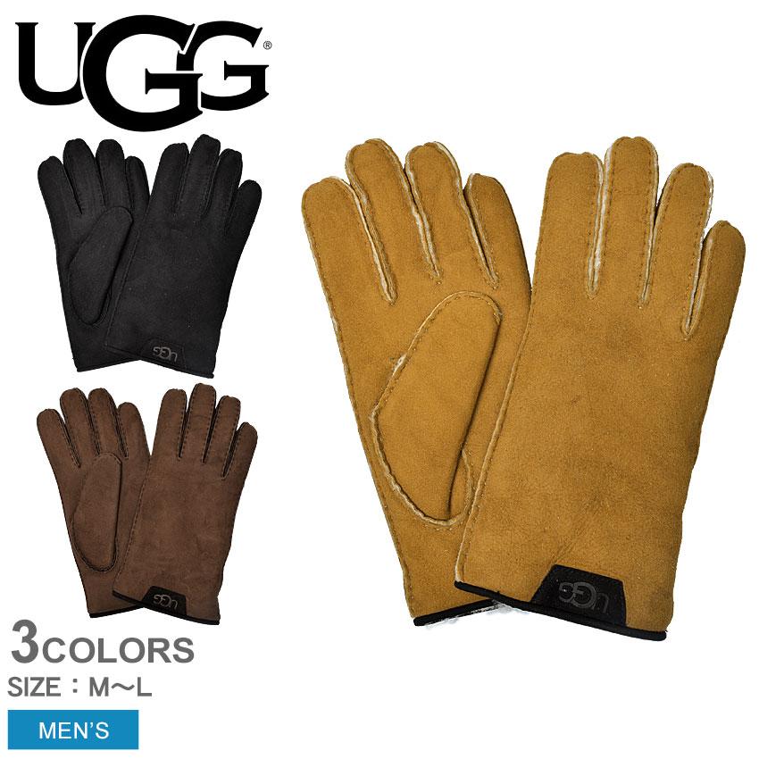 【メール便可】 送料無料 【アグ】 UGG 手袋 グローブ メンズ プレゼントレザー シープスキン グローブ W SHEEPSKIN GLOVE W 17392