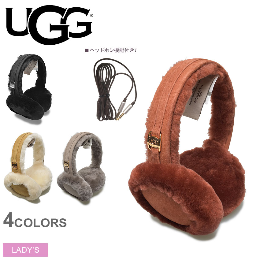 送料無料 【アグ】 UGG イヤーマフ ヘッドフォン内臓 レディースクラシックテックイヤーマフ CLASSIC TECH EARMUFF 17399