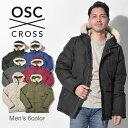 【最大3000円クーポン】【OSC CROSS】 オーエスシークロス ダウンジャケット メンズ 6色 ラサール LASALLE M02CX コート アウター 防寒 フード ボア 人気 ブランド 男性