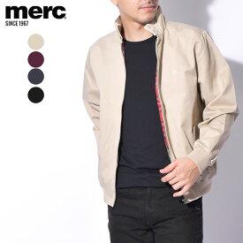 【MERC】 メルクロンドン ハリントンジャケット メンズ 春 アウター ブルゾン 無地 シンプル THE HARRINGTON JACKET 1104106 ポケットフロントジップ 裏地 チェック柄