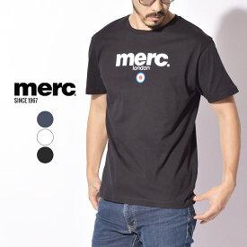 【メール便可】 メルクロンドン Tシャツ MERC 半袖 BRIGHTON T-SHIRT 1704136 メンズ 紳士 夏 服 ウェア トップス シンプル ベーシック ロゴ ブランド イギリス 英国 父の日 プレゼント おしゃれ