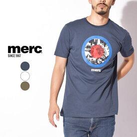 【限定クーポン配布!】【メール便可】 メルクロンドン Tシャツ MERC メンズ 半袖 夏 服 GRANVILLE 1713118 トップス ターゲット バイク ロゴ グラフィック イギリス ブランド 父の日 プレゼント ロック カジュアル