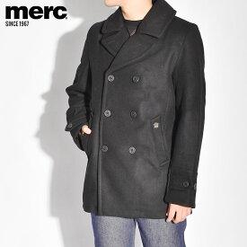 メルクロンドン ジャケット MERC ドイル ウール ピーコート Pコート DOYLE WOOL PEACOAT 1115205 メンズ アウター ウェア シンプル ベーシック ロゴ ブランド プレゼント ギフト 刺繍 定番 クラシカル ポケット ボタン 黒 [SALE]クーポンで割引