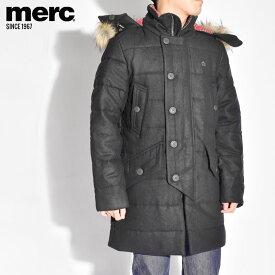 メルクロンドン アウター MERC ロング コート メンズ ジャケット ネイビー RALEIGH 1119204 中綿 シンプル カジュアル ファー ロゴ ブランド クラシック プレゼント ギフト 刺繍 定番 クラシカル ポケット ボタン [SALE]クーポンで割引